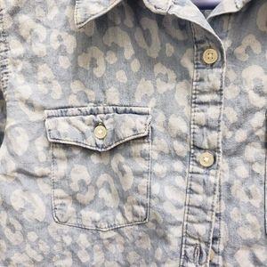 Cherokee Tops - Cherokee XL 14/16 Animal Print Denim Shirt
